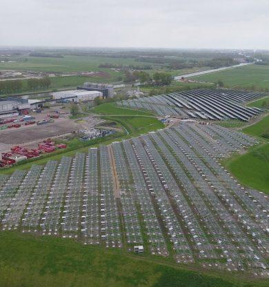 Zonnepark Woldjerspoor in Groningen