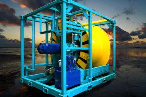 Sonderingsmachine en lieren voor de offshore